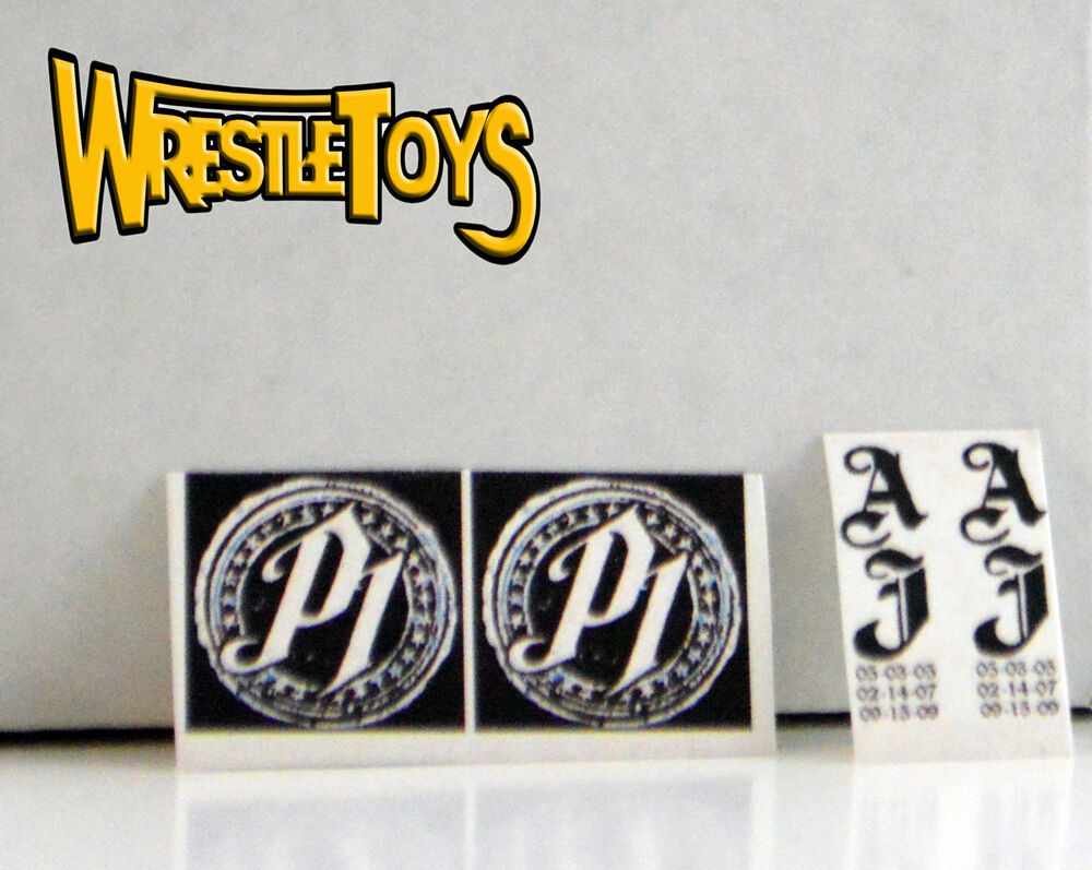 Aj Styles Tattoo Decals For Figure Custom Wrestling Fix Up Ideas And Designs