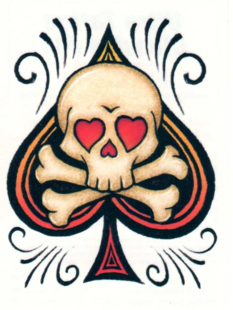 Ace Of Spades Skull Crossbones Ultra Classic Temporary Ideas And Designs