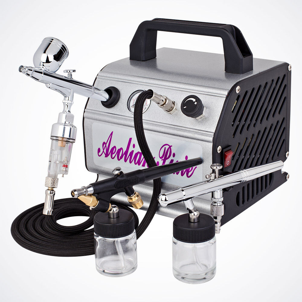 New 3 Airbrush Kit Air Compressor Dual Action Spray Ideas And Designs