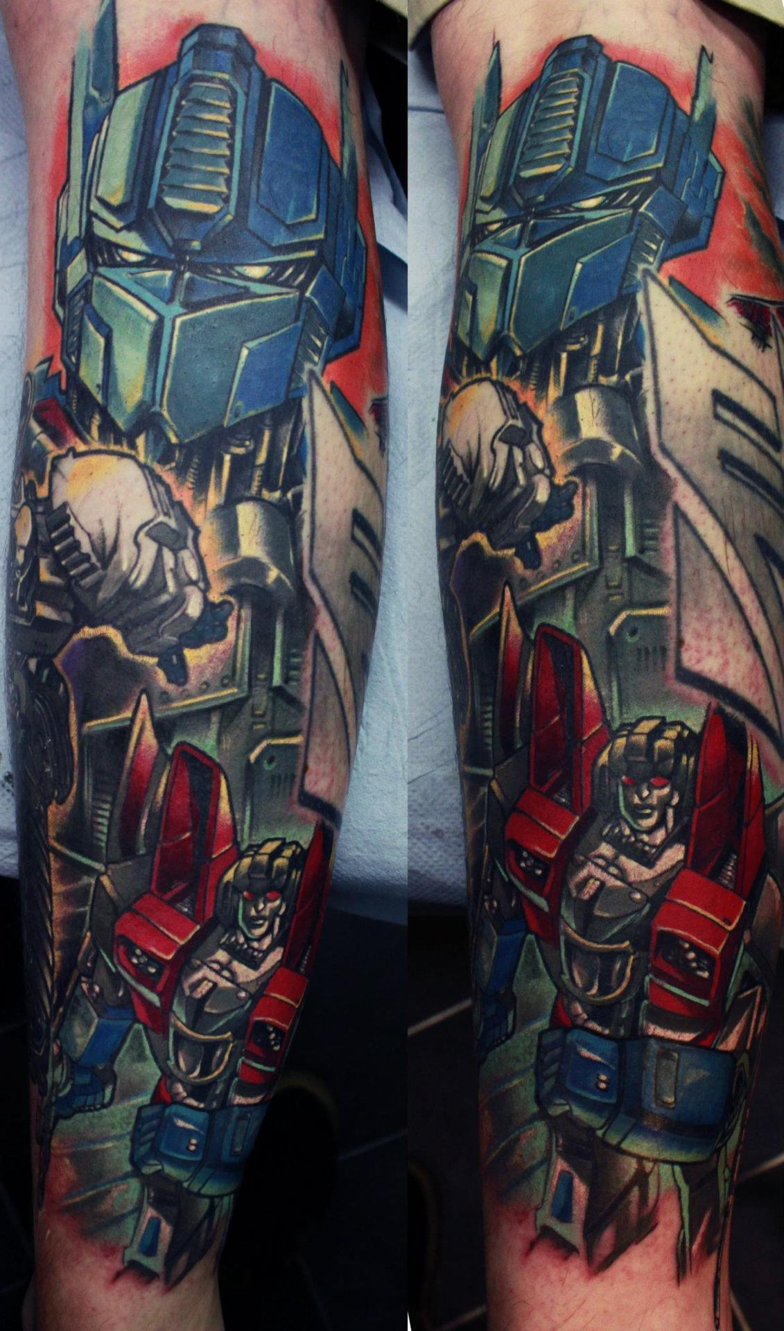 Transformers Tattoo Done By Edgar Ivanov At Old Ideas And Designs