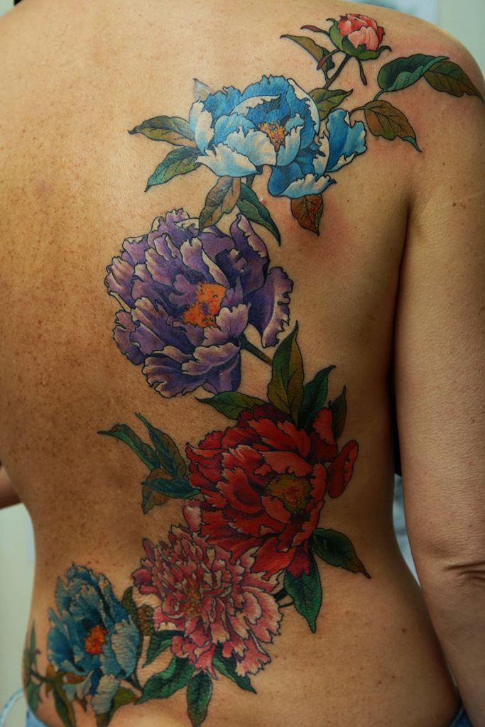 Tattoo Color Tattoo Back Tattoo Dmitriy Samohin Floral Ideas And Designs