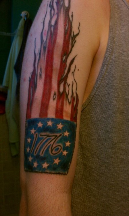 "Fyeahtattoos Com — My "" 776"" Betsy Ross Flag Tattoo Ideas And Designs"