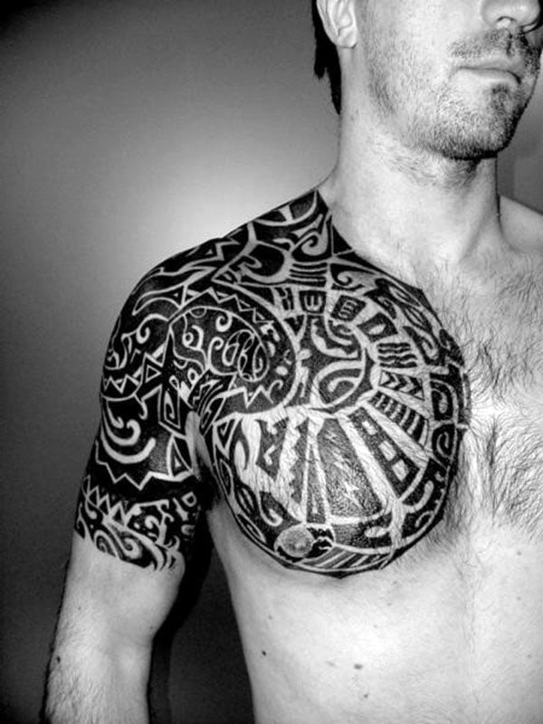 Chest Shoulder Tribal Tattoos For Men Cool Tattoos Ideas And Designs