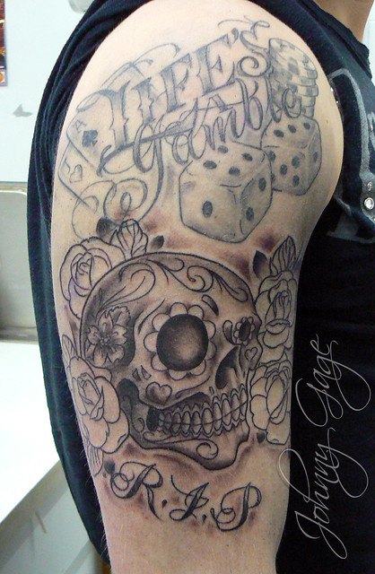 Candy Skull Tattoo Flickr Photo Sharing Ideas And Designs