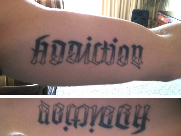 Addiction Recovery Ambigram Tattoo Flickr Photo Ideas And Designs