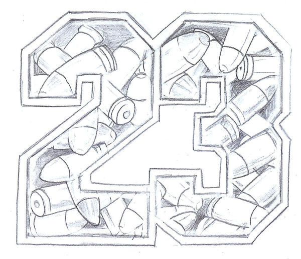Numer 23 Design Tat By 2Face Tattoo On Deviantart Ideas And Designs