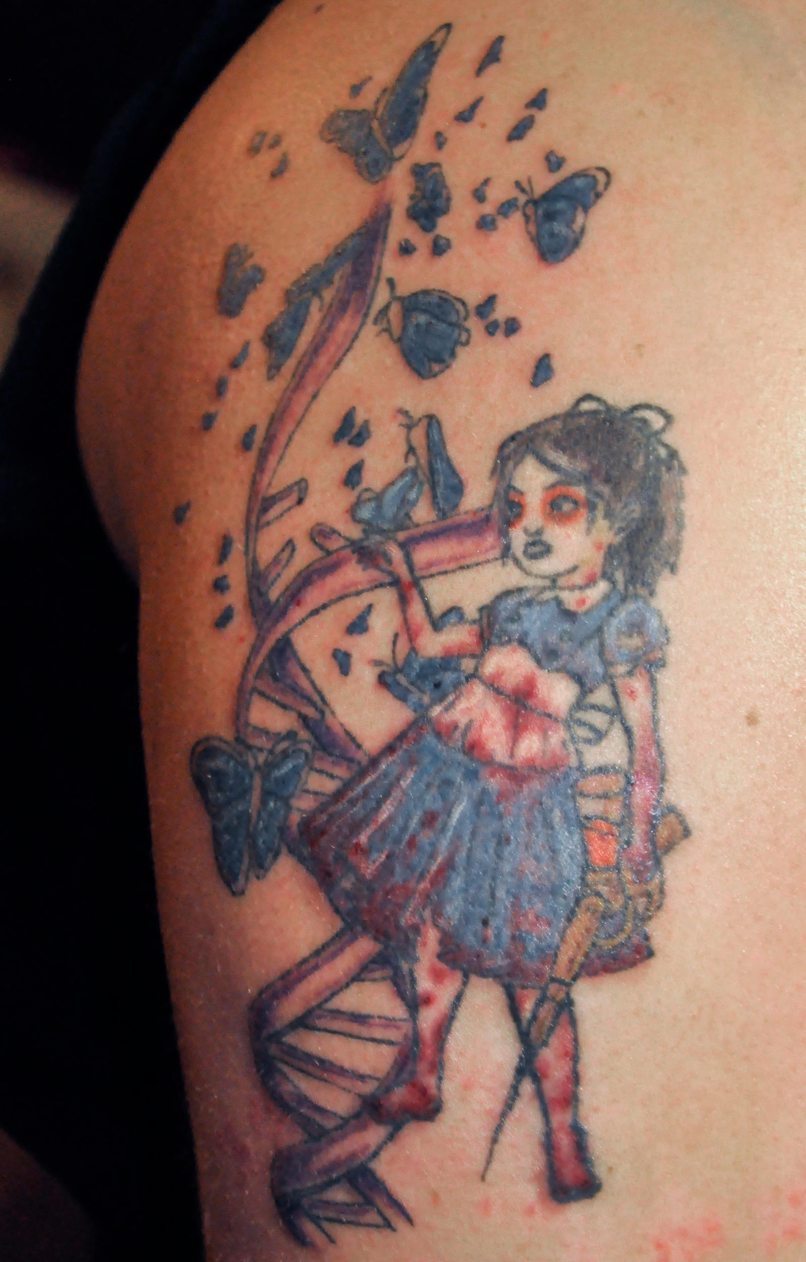 Little Sister Bioshock Tattoo Session 3 By Xenohm On Ideas And Designs