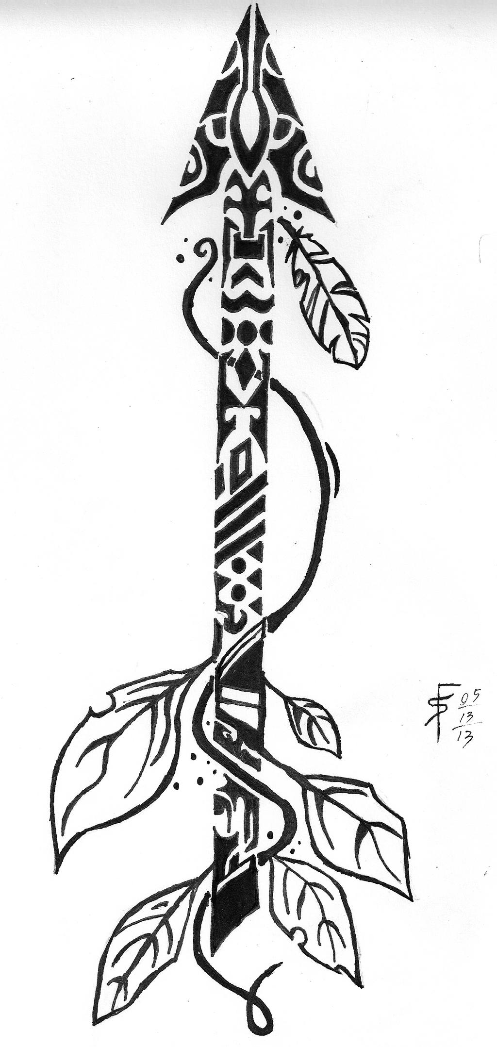 Tribal Arrow By Draconistheory On Deviantart Ideas And Designs