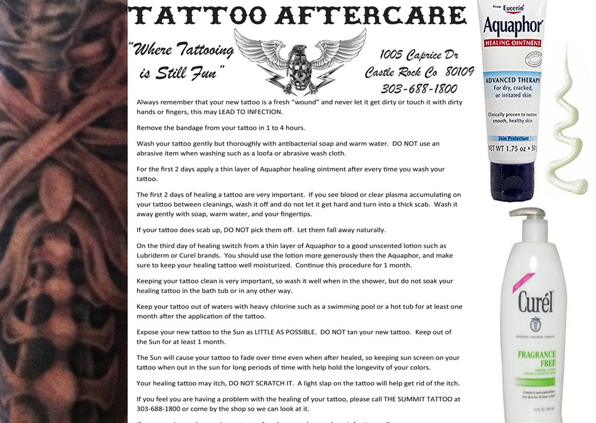 Tattoo Aftercare Images Ideas And Designs