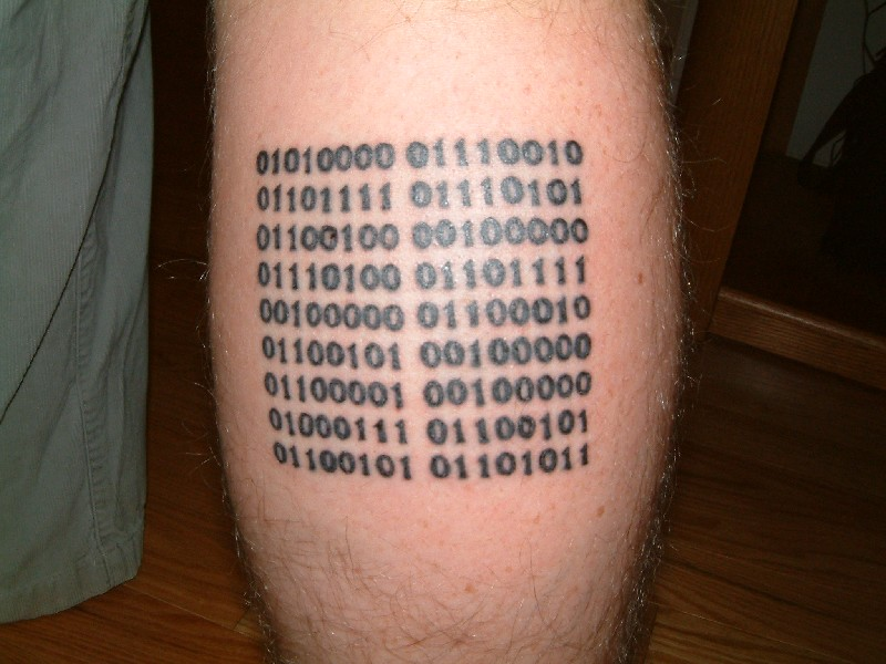 Binary Tattoo Hot Body Painting Ideas And Designs
