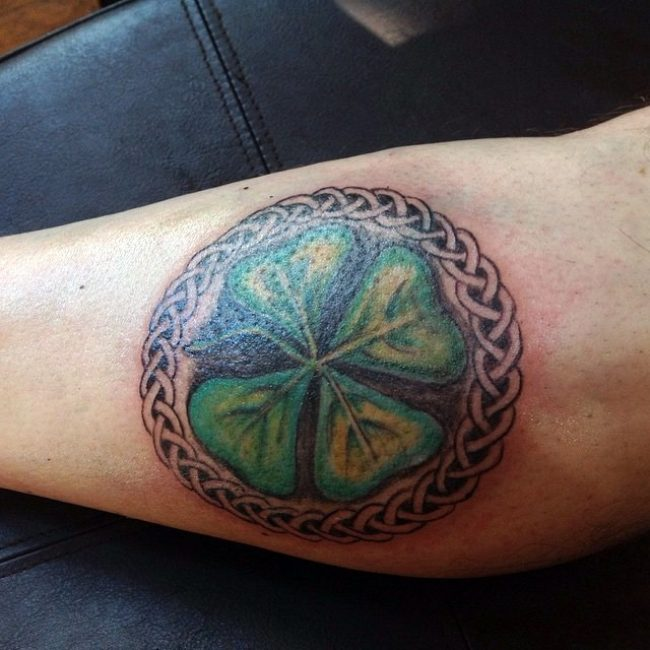 60 Amazing Four Leaf Clover Tattoo Designs For Men Catch Ideas And Designs
