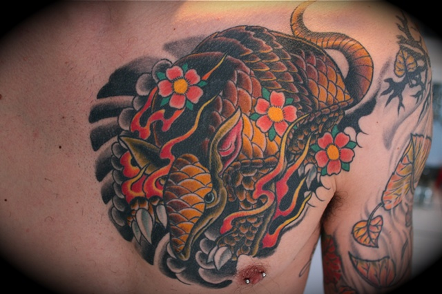 Mike Lussier Art Freek Tattoo Armadillo With Blossoms Ideas And Designs