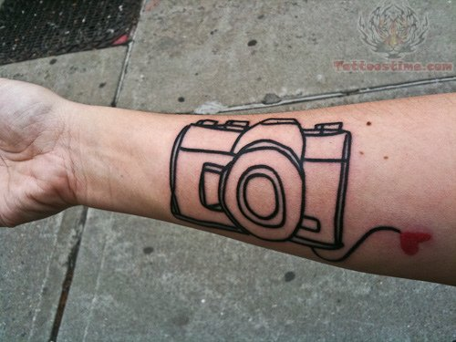 Camera Outline Tattoo On Wrist Ideas And Designs