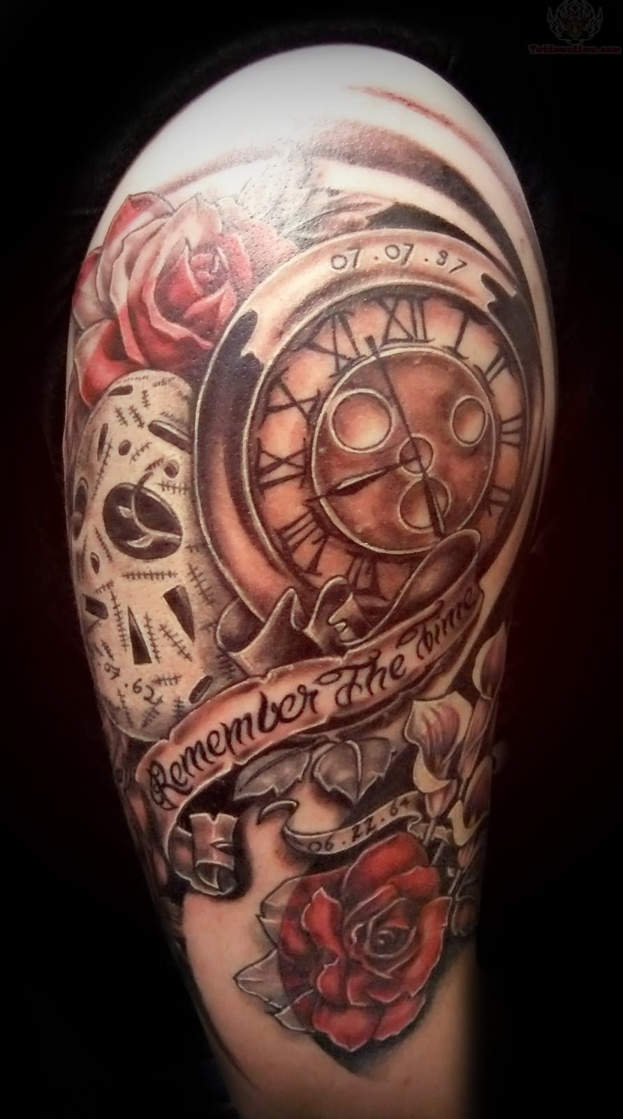 Clock Tattoo Images Designs Ideas And Designs