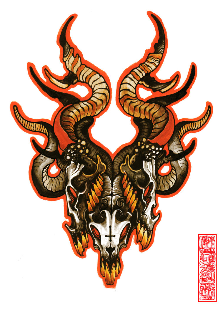 Goat Tattoo Images Designs Ideas And Designs