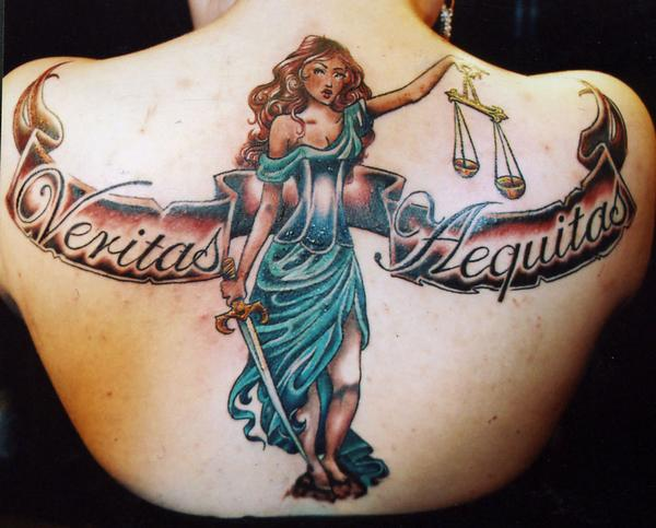 Justice Tattoo Images Designs Ideas And Designs