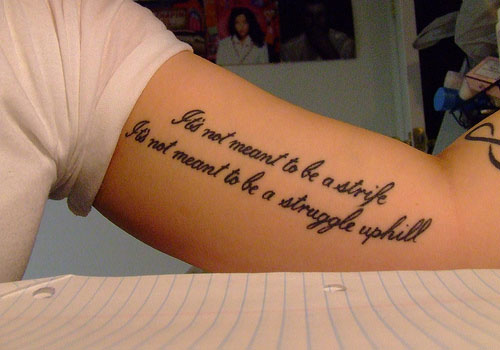 Quote Tattoo Images Designs Ideas And Designs