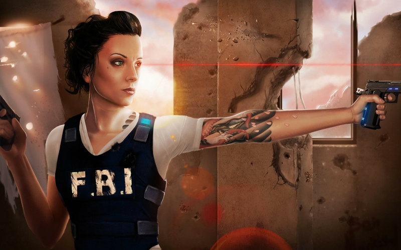Tattoos Women Police Weapons Fbi Drawings 1920X1200 Ideas And Designs