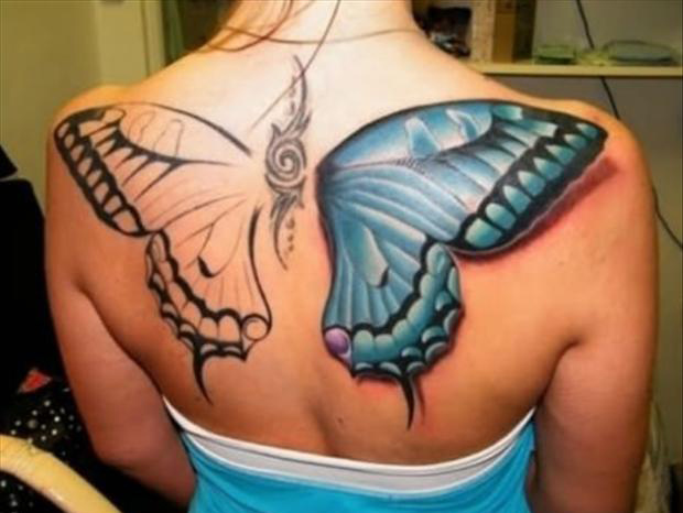 Best Tattoos Big Butterfly Back Tattoo Dump A Day Ideas And Designs