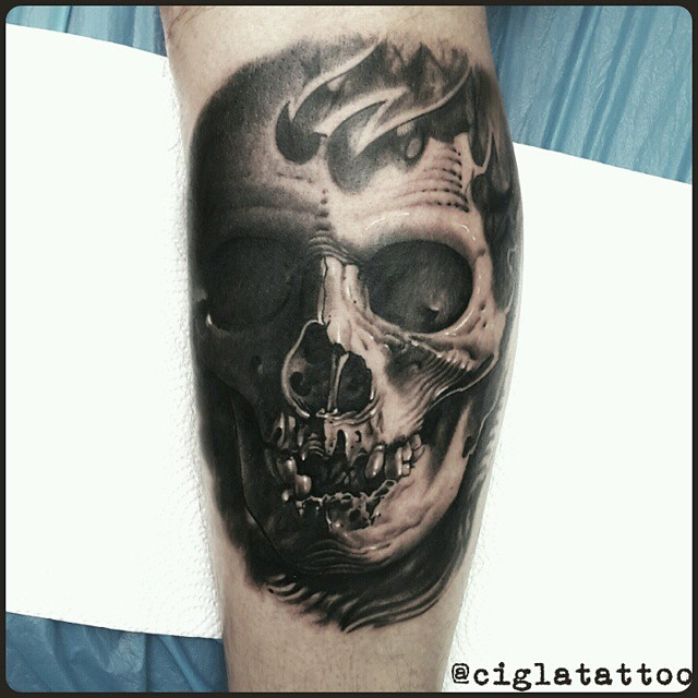 Smiling 3D Skull Tattoo Best Tattoo Ideas Gallery Ideas And Designs