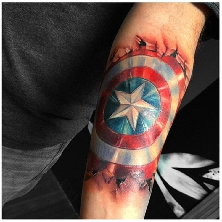 Captain America Shield Tattoo Best Tattoo Ideas Gallery Ideas And Designs