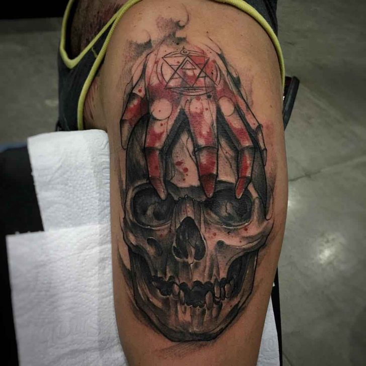 Fullmetal Alchemist Tattoo Skull Best Tattoo Ideas Gallery Ideas And Designs
