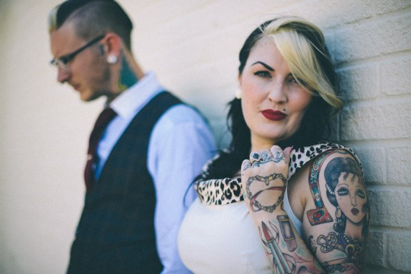 Skulls Tattoos And The 1950S Inspired Wedding Tim Ideas And Designs