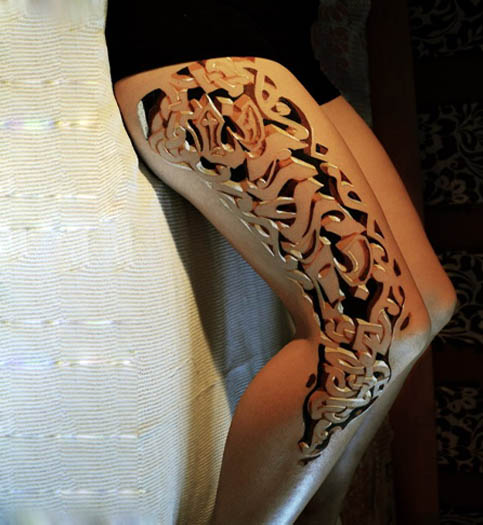 Beautiful 3D Leg Tribal Tattoos Design Fashion For Girls Ideas And Designs