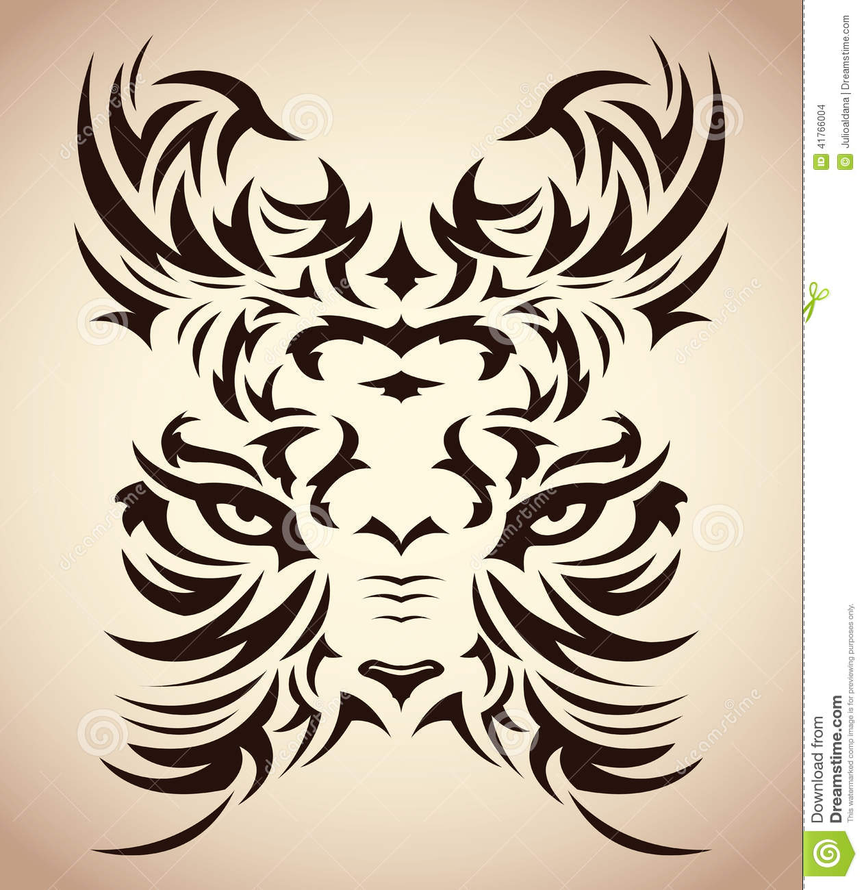 Abstract Tribal Tiger Vector Tattoo Eyes Stock Vector Ideas And Designs