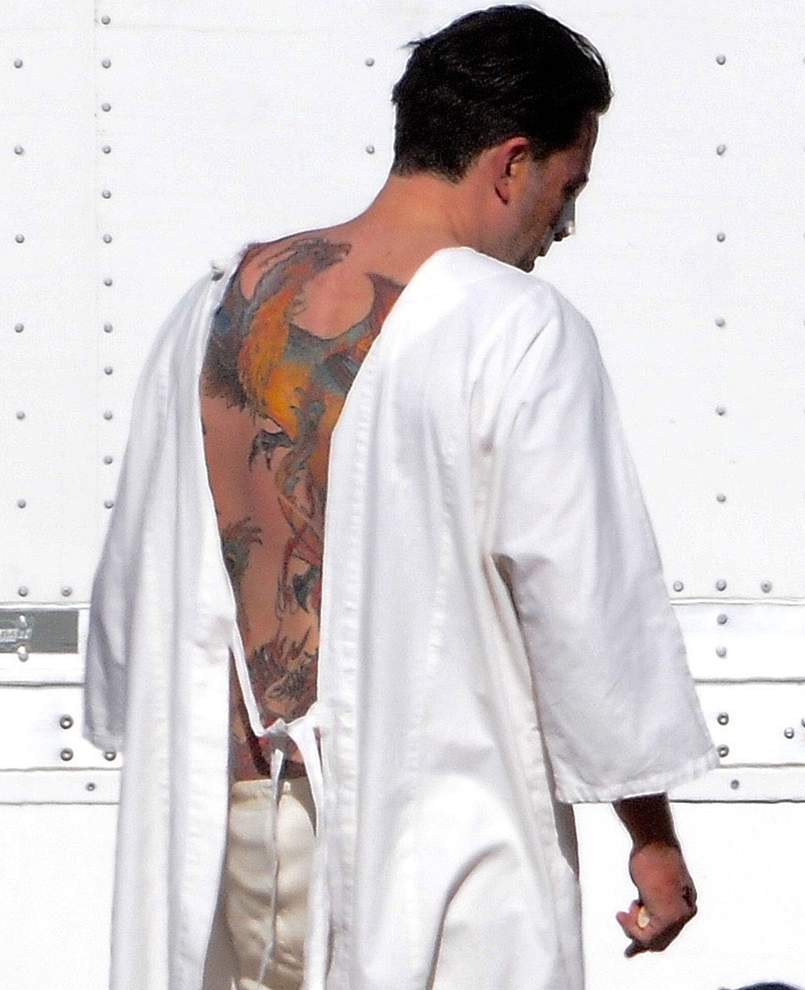 Ben Affleck Says His Massive Back Tattoo Is Fake Ideas And Designs