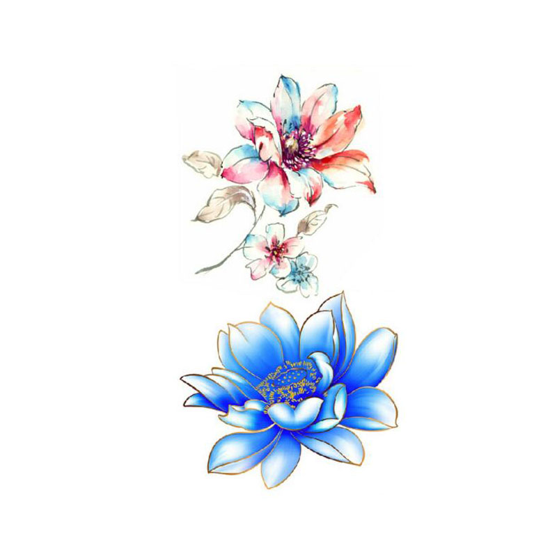 Bittb 10Pcs S*Xy 3D Lotus Flower Designs Waterproof Body Ideas And Designs