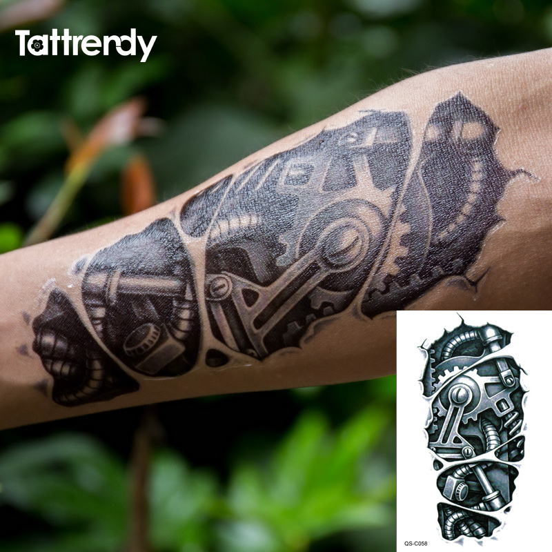Online Buy Wholesale Mechanical Tattoos From China Ideas And Designs
