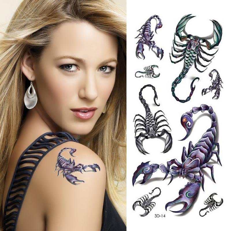 Scorpion Tattoo Designs 3D Small Tattoos Body Art Ideas And Designs