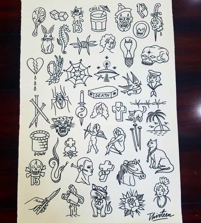 10 Tattoo Shops With Friday The 13Th Flash Sheet Deals Ideas And Designs