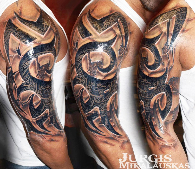 3D Tribal Tattoo By Jurgis Mikalauskas Post 13435 Ideas And Designs