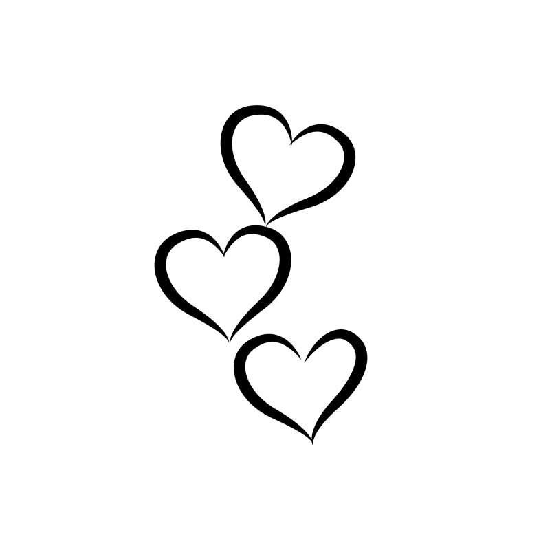Three Hearts Abstract Temporary Tattoo Ink Daze Ideas And Designs