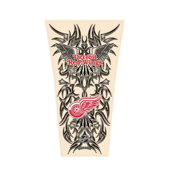Nhl Tribal Tattoo Sleeve Men S One Size Detroit Red Wings Ideas And Designs