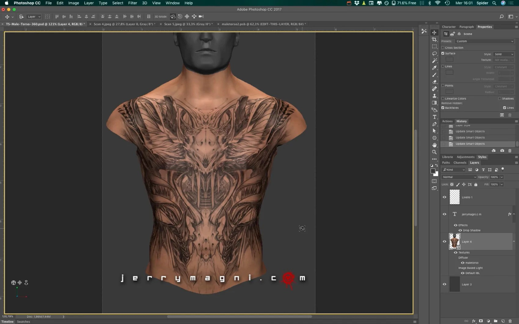 Digital Tutorials 3Rd Dimension Tattoo Design By Jerry Ideas And Designs