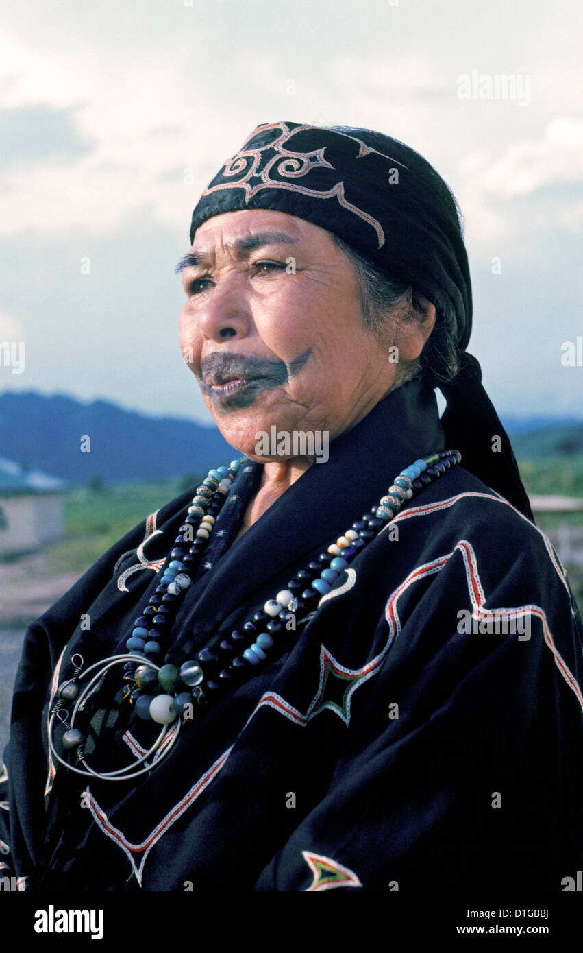 An Elderly Ainu Woman With A Tattoo Resembling A Mustache Ideas And Designs