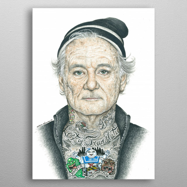 Bill Murray Inked By Wayne Maguire Displate Ideas And Designs