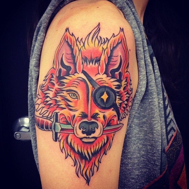 My Star Fox Done By Ian At Aces In Denton Tx Tattoos Ideas And Designs
