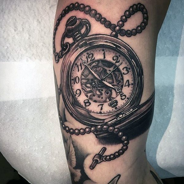 200 Popular Pocket Watch Tattoo And Meanings April 2018 Ideas And Designs