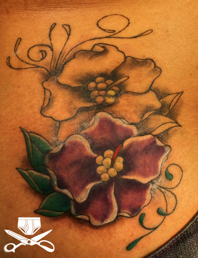 African Violet Tattoo Hautedraws Ideas And Designs