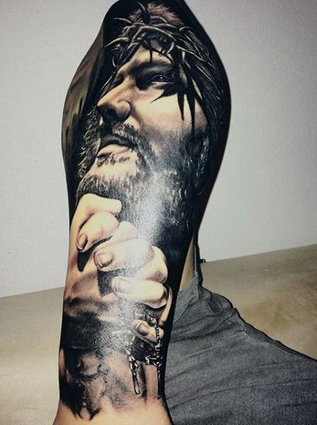 28 Best Jesus Half Sleeve Tattoos For Men Drawings Images On Pinterest Half Sleeve Tattoos Ideas And Designs
