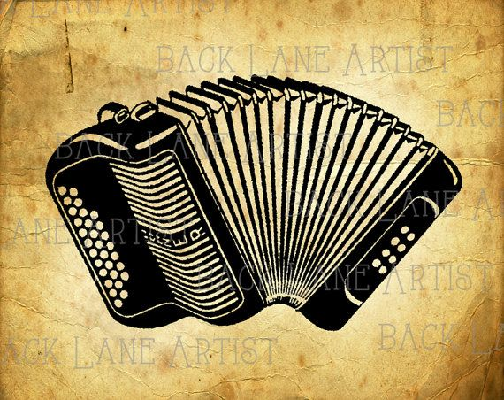 Vintage Hohner Accordion Muscial Instrument Clipart Ideas And Designs