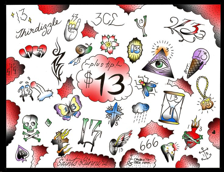10 Best Friday The 13Th Tattoos Images On Pinterest 13 Ideas And Designs