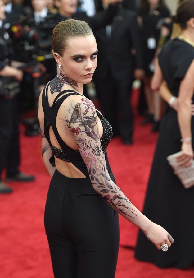 Cara Delevingne Showed Up At The Met Gala Last Night With Ideas And Designs