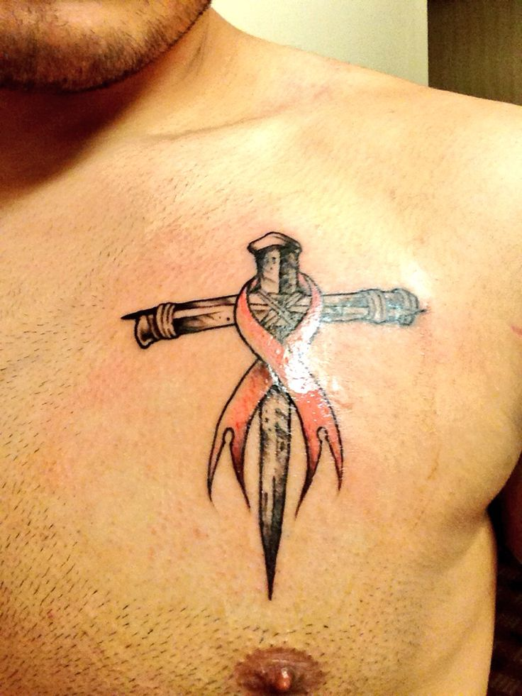 Cross With Br**St Cancer Ribbon Faith Breastcancer Ideas And Designs