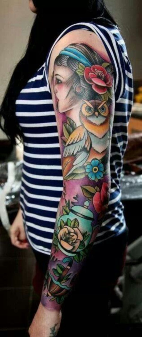 Best 25 Girl Sleeve Tattoos Ideas On Pinterest Rose Ideas And Designs