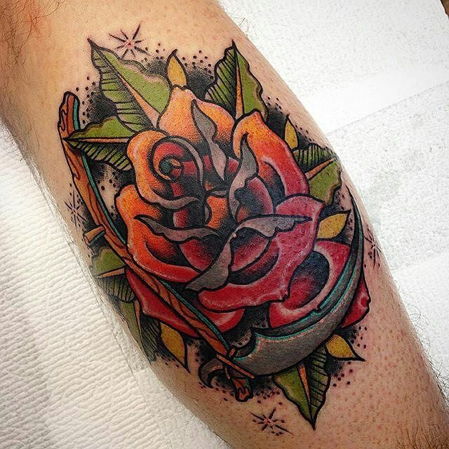 Rose Scythe Tattoo By Zachbowdentattoos At A Tattoo Ideas And Designs